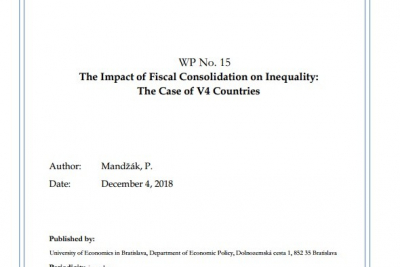 WP No. 15 The Impact of Fiscal Consolidation on Inequality: The Case of V4 Countries
