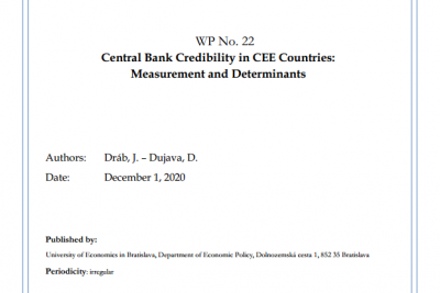 WP No. 22 Central Bank Credibility in CEE Countries: Measurement and Determinants
