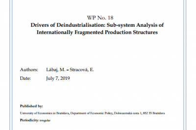 WP No. 18 Drivers of Deindustrialisation: Sub-system Analysis of Internationally Fragmented Production Structures