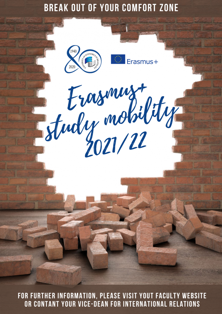 Erasmus+ Study Mobility for academic year 2021/2022