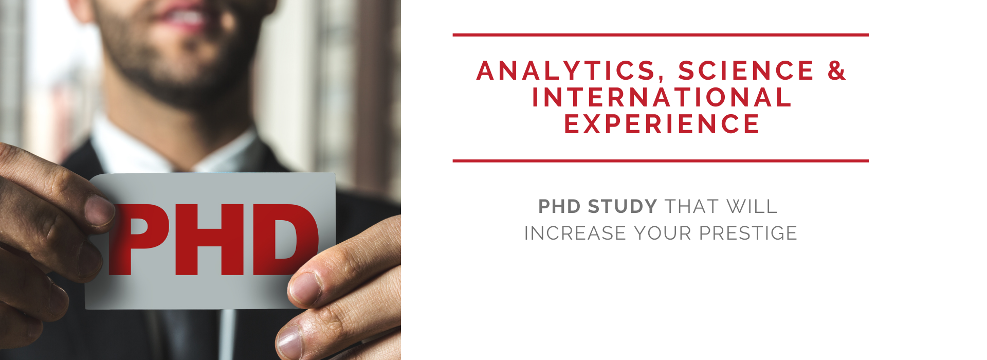 Analytics, International Experience & Science